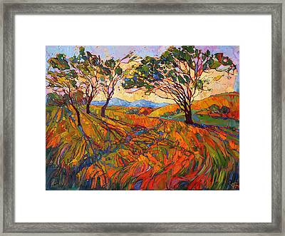 Framed Print featuring the painting Paso Mosaic by Erin Hanson