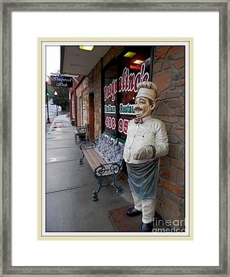 Framed Print featuring the digital art Pasqualina's Entrance by Angelia Hodges Clay