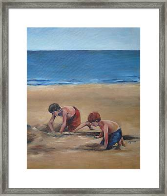 Pass Christian Brothers Framed Print by Julie Dalton Gourgues