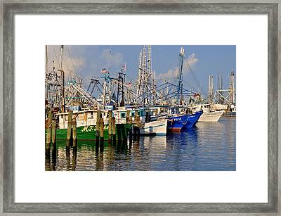 Pass Christian Harbor Framed Print