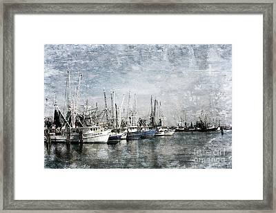 Pass Christian Harbor Framed Print by Joan McCool