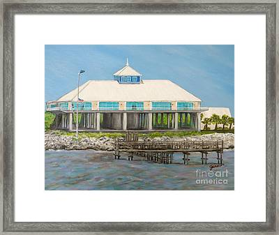 Pass Christian Yacht Club Framed Print