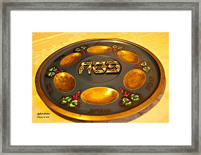 Pass-over Plate1 Framed Print by Itzhak Richter