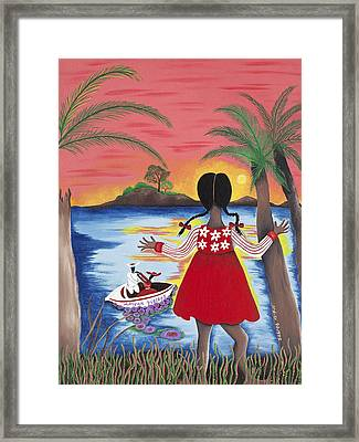 Pass The Path Framed Print by Patricia Sabree