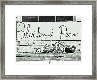 Pass The Peas Please Framed Print
