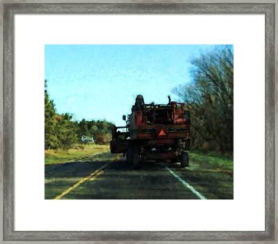 Pass With Caution Framed Print by David Blank