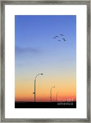 Passage Into Dawn Framed Print by Evelina Kremsdorf