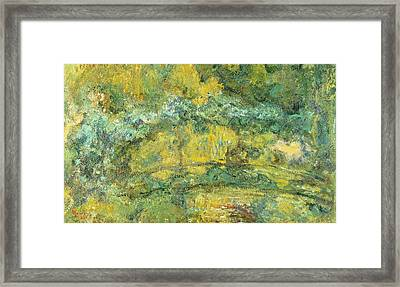 Passage On Waterlily Pond Framed Print by Claude Monet