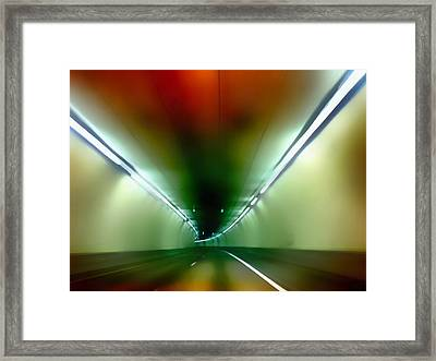 Passage Through The Mountain Framed Print by Angelina Vick
