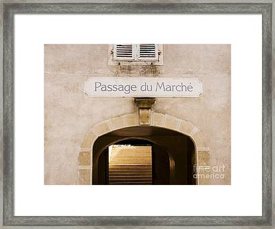 Passage To The Market Framed Print