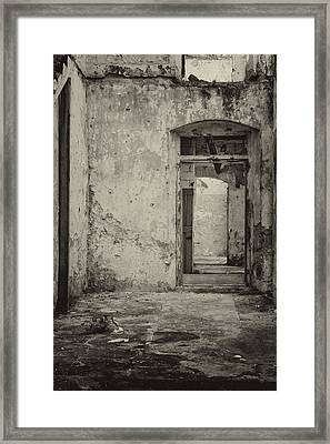 Enter  The Past Framed Print