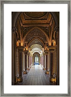Passage Way - Monserrate Palace Framed Print by Mary Machare