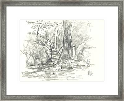 Passageway At Elephant Rocks Framed Print by Kip DeVore