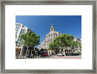 Passeig De Gracia, Barcelona, Spain Framed Print by Sergio Pitamitz