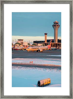 Passenger Airliner Taxiing Framed Print by Jim West