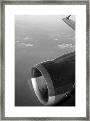 Passenger Liner Through The Keyhole Framed Print by Kantilal Patel