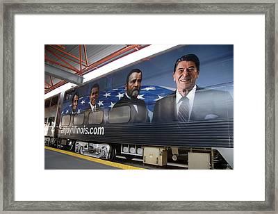 Passenger Train Artwork Framed Print