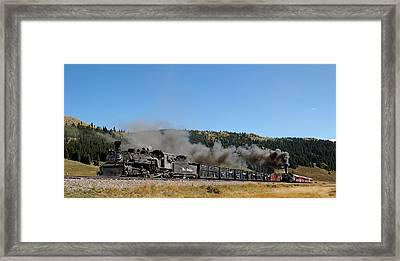 Passenger Train Has The Highball Framed Print by Ken Smith
