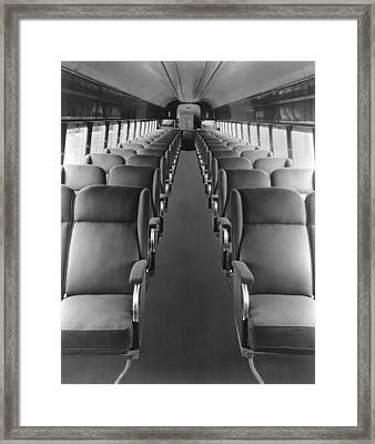 Passenger Train Interior Framed Print