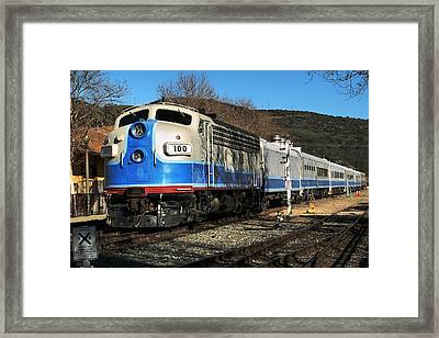 Framed Print featuring the photograph Passenger Train by Michael Gordon