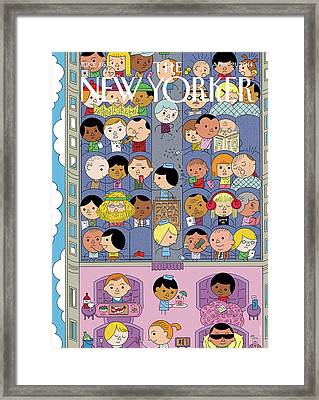 Passengers Travel On A Plane Framed Print by Ivan Brunetti