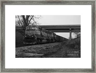 Passing Glenwood Framed Print