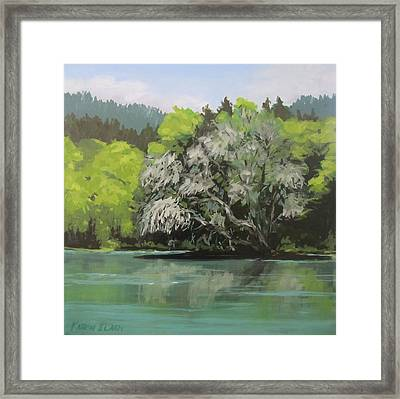 Framed Print featuring the painting Passing by Karen Ilari