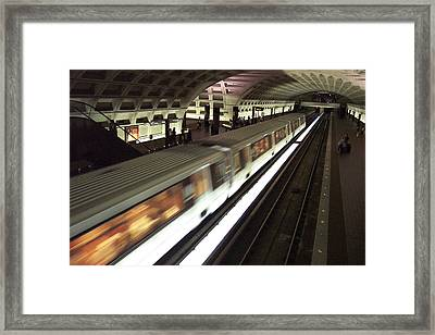 Passing Metro Train Framed Print