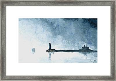 Passing Storm - Duluth Harbor Framed Print by William Beaupre