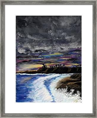 Framed Print featuring the painting Passing Storm by Gary Brandes