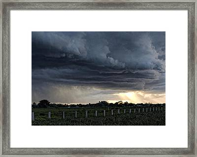 Passing Storm Framed Print by Heather Provan