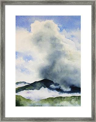 Passing Storm On Mt. Diablo Framed Print