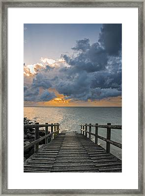 Framed Print featuring the photograph Passing Storm by Trevor Chriss
