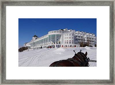 Passing The Grand Hotel Framed Print