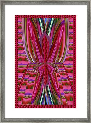 Passing The Physical Electric Spark Erotic Colors Romantic Imagination Waves Patterns Weired Abstrac Framed Print by Navin Joshi