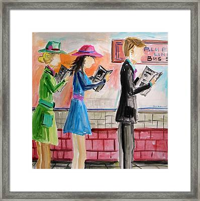 Framed Print featuring the painting Passing The Time by John Williams