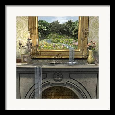 Primroses Digital Art Framed Prints