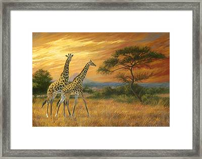 Passing Through Framed Print by Lucie Bilodeau