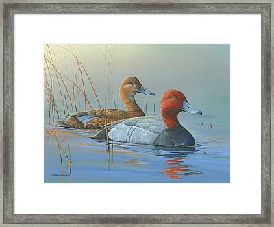 Framed Print featuring the painting Passing Through by Mike Brown