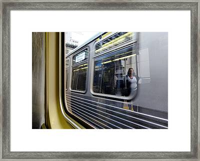 Passing Trains Framed Print