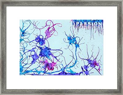 Passion Framed Print by Audrey Dutton