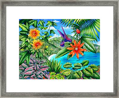 Passion Bay Framed Print
