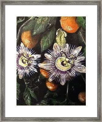 Passion Framed Print by Coral Rae