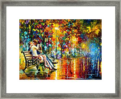 Passion Evening -  New Framed Print by Leonid Afremov