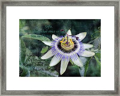 Framed Print featuring the digital art Passion Flower 2 by Helene U Taylor