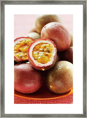Passion Fruits (purple Granadilla), One Halved Framed Print
