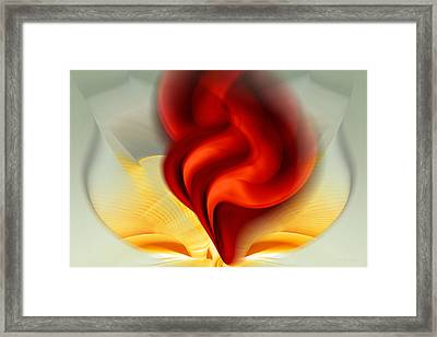 Passion In A Bowl Of Gold Framed Print