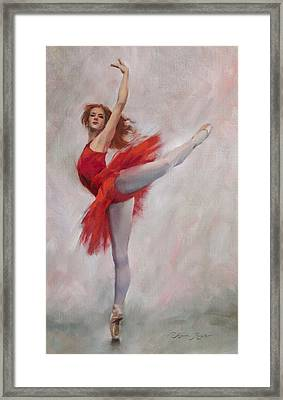Passion In Red Framed Print by Anna Rose Bain
