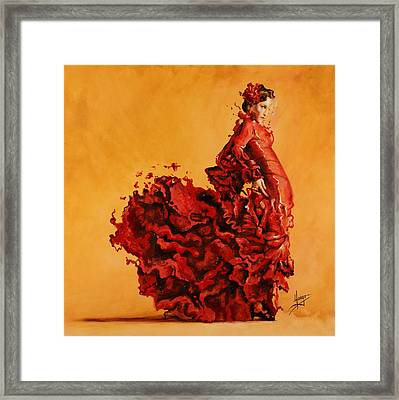 Passion Framed Print by Karina Llergo