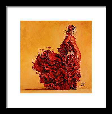 Fire Dance Framed Prints